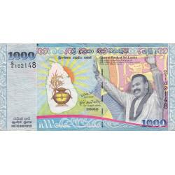 Sri-Lanka - Pick 122a - 1'000 rupees - 20/05/2009 - Commémoratif - Etat : TB+