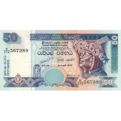 Sri-Lanka - Pick 110e - 50 rupees - 2005 - Etat : NEUF