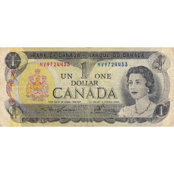 Canada - Pick 85a1 - 1 dollar - 1973 - Etat : TB