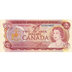Canada - Pick 86a1 - 2 dollars - 1974 - Etat : TTB