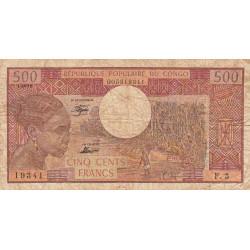 Congo (Brazzaville) - Pick 2b - 500 francs - Etat : B