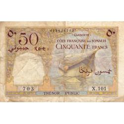 Djibouti - Pick 25 - 50 francs - 1952 - Etat : TB-