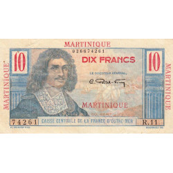 Martinique - Pick 28 - 10 francs - France Outre-Mer - 1947 - Etat : TB+