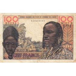 Bénin - Pick 201Be - 100 francs - Série W.217 (billet de remplacement) - 02/03/1965 - Etat : TB
