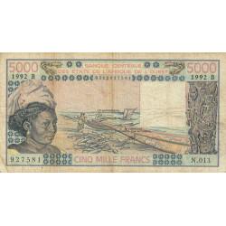 Bénin - Pick 208Bn - 5'000 francs - Série N.013 - 1992 - Etat : TB-