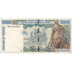 Burkina-Faso - Pick 313Cg - 5'000 francs - 1998 - Etat : TTB