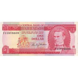 Barbade - Pick 29 - 1 dollar - 1973 - Etat : TTB