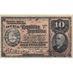 Argentine - Pick 210_3 - 10 centavos - Série U - 01/11/1891 - Etat : TTB+