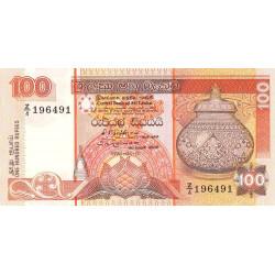 Sri-Lanka - Pick 105Ar (remplacement) - 100 rupees - 01/07/1992 - Etat : SUP à SPL