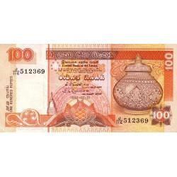 Sri-Lanka - Pick 105A - 100 rupees - 01/07/1992 - Etat : TTB+