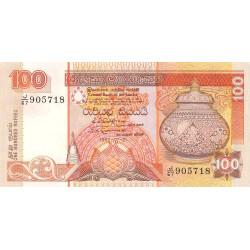 Sri-Lanka - Pick 105A - 100 rupees - 01/07/1992 - Etat : SUP à SPL
