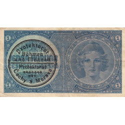Bohême-Moravie - Pick 1b - 1 koruna - 1940 - Etat : TTB à TTB+