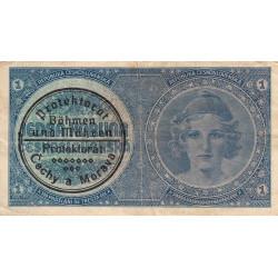 Bohême-Moravie - Pick 1b - 1 koruna - 1940 - Série A076 - Etat : TTB à TTB+