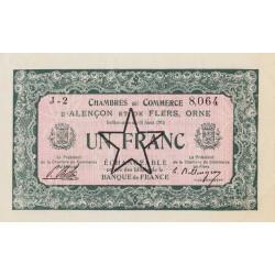 Alençon / Flers (Orne) - Pirot 6-32 - 1 franc - Série J2 - 10/08/1915 - Etat : SPL