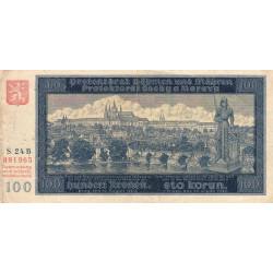 Bohême-Moravie - Pick 6a - 100 korun - 20/08/1940 - Série 24B - Etat : TB+