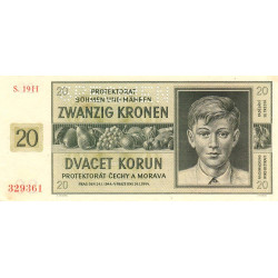 Bohême-Moravie - Pick 9s - 20 korun - 21/01/1944 - Spécimen - Etat : SPL