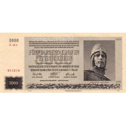 Bohême-Moravie - Pick 17s - 5'000 korun - 1944 - Série A - Spécimen - Etat : SPL