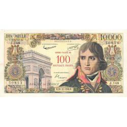 F 55-01 - 30/10/1958 - 100 nouv. francs sur 10000 francs - Bonaparte - Série J.148 - Etat : TTB-