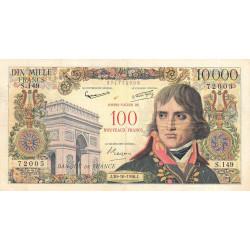 F 55-01 - 30/10/1958 - 100 nouv. francs sur 10000 francs - Série S.149 - Bonaparte - Etat : TB+