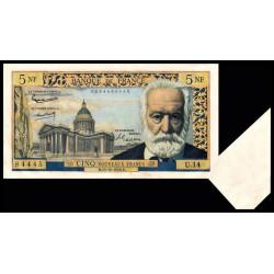 F 56-03 - 15/10/1959 - 5 nouv. francs - Victor Hugo - Série U.14 - Appendice de papier - Etat : SPL