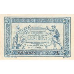 VF 01-01 - 50 centimes - Trésorerie aux armées - 1917 - Etat : SUP