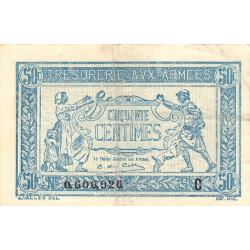 VF 01-03 - 50 centimes - Trésorerie aux armées - 1917 - Etat : TTB