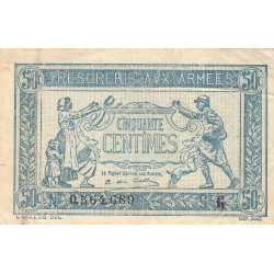 VF 01-07 - 50 centimes - Trésorerie aux armées - 1917 - Etat : TB+