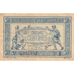 VF 01-017 - 50 centimes - Trésorerie aux armées - 1917 - Etat : TB+