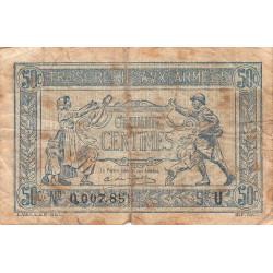 VF 02-04 - 50 centimes - Trésorerie aux armées - 1919 - Etat : B+