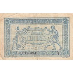 VF 2-5 - 50 centimes - Trésorerie aux armées - 1919 - Etat : TB+