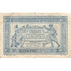 VF 2-7 - 50 centimes - Trésorerie aux armées - 1919 - Etat : TB