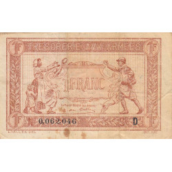 VF 03-04 - 1 franc - Trésorerie aux armées - 1917 - Etat : TB+