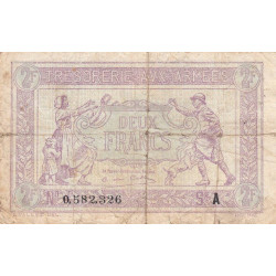 VF 05-01 - 2 francs - Trésorerie aux armées - 1917 - Etat : TB