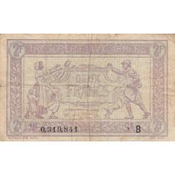 VF 05-02 - 2 francs - Trésorerie aux armées - 1917 - Etat : TB