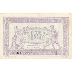 VF 05-02 - 2 francs - Trésorerie aux armées - 1917 - Etat : SUP