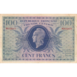 VF 6-1a - 100 francs - Trésor central - 1943 - Etat : TTB-