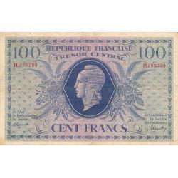 VF 6-1d - 100 francs - Trésor central - 1943 - Etat : TTB-