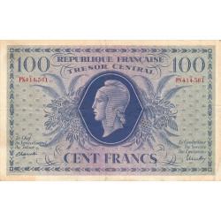 VF 6-1f - 100 francs - Trésor central - 1943 - Etat : TTB