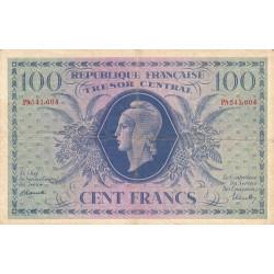 VF 06-01f - 100 francs - Trésor central - 1943 - Etat : TB+