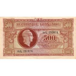 VF 11-1 - 500 francs - Marianne - 1945 - Etat : TTB