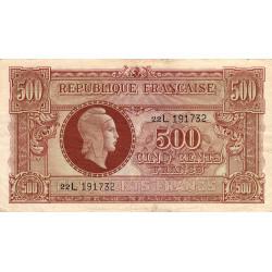 VF 11-01 - 500 francs - Marianne - 1945 - Etat : TB+