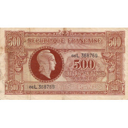 VF 11-01 - 500 francs - Marianne - 1945 - Etat : TB-