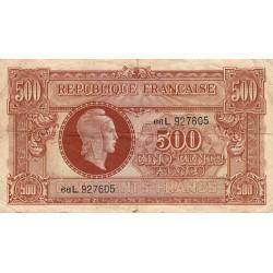 VF 11-01 - 500 francs - Marianne - 1945 - Etat : TB