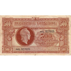 VF 11-1 - 500 francs - Marianne - 1945 - Etat : TB