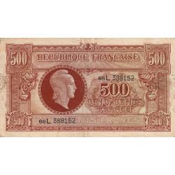 VF 11-1 - 500 francs - Marianne - 1945 - Etat : TB-