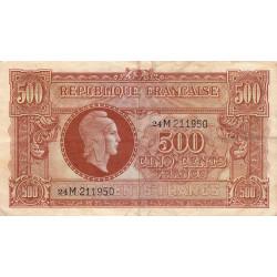 VF 11-02 - 500 francs - Marianne - 1945 - Etat : TB+