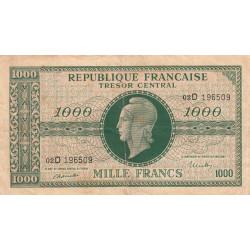 VF 13-01 - 1000 francs - Marianne - 1945 - Etat : TB+
