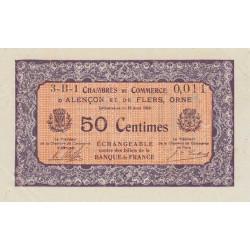 Alençon / Flers (Orne) - Pirot 6-33 - 50 centimes - Série 3A1 - 10/08/1915 - Etat : NEUF