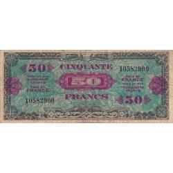 VF 19-01 - 50 francs - Drapeau - 1944 - Etat : B+