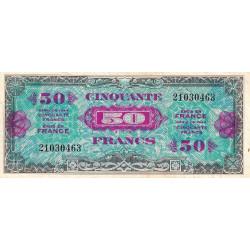 VF 19-1 - 50 francs - Drapeau - 1944 - Etat : TTB